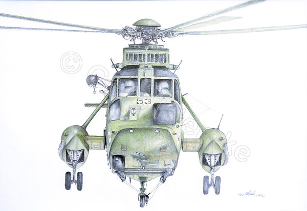 Sea King Anflug