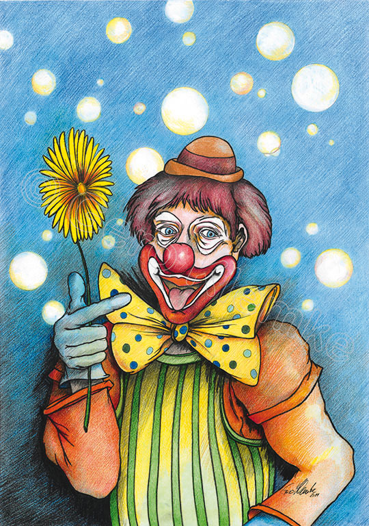 Clown lustig